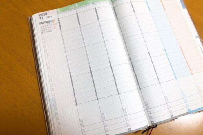 証拠の真っ白のスケジュール帳